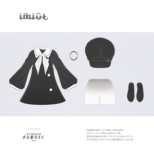 【VRC対応3D服飾モデル】imiut One-piece dress ver1.00