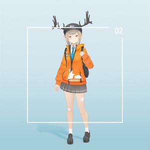 【VRC対応3D服飾モデル】KRONOS School uniform ver1.00