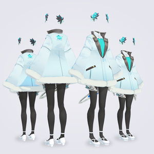 【VRC対応3D服飾モデル】Forget-me-not Elves' Outerwear ver1.00