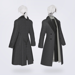 【VRC対応3D服飾モデル】FUYUMIDORI Classic Coat ver1.00