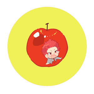 果物缶バッチ