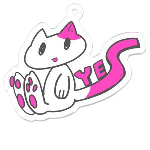 YES猫アクリルキーホルダー