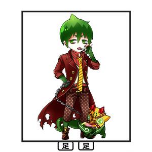 ボトルキャップアクリルキーホルダー【アマイモン】
