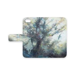 誰かが見つけてくれるかな 手帳型iPhoneケース - iPhone 8 / 7 - ストラップ穴 なし