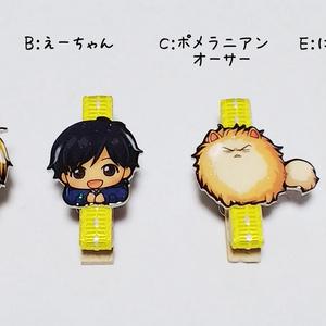 【バナナフィッシュ】くるみボタンの缶ケース(5種)+クリップ(4種)