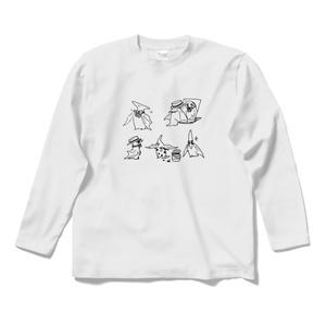 おませなプテラノドンのTシャツ(長袖)