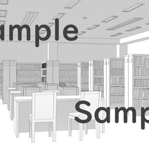 【背景素材】図書館