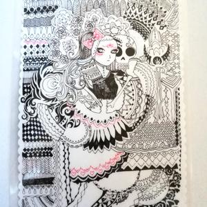 死者の日風イラストラミネートカード