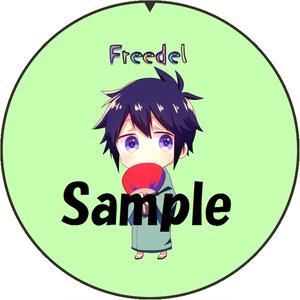 Freedel オリジナル缶バッジ
