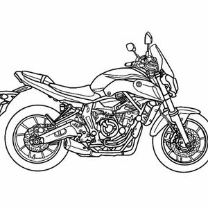 アクリルキーホルダー(バイク)