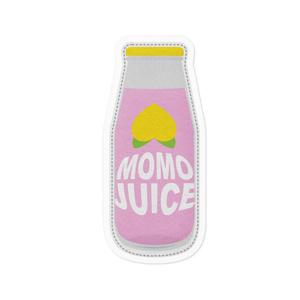めぐトラステッカー -モモジュース-