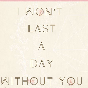 I won't last a day without you