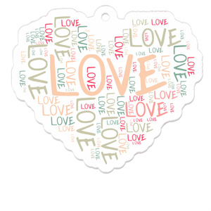 LOVEアクリルキーホルダー