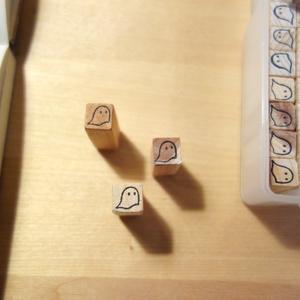 おばけパズルのスタンプ 10x10mm1本・6x6mm1本の2本セット