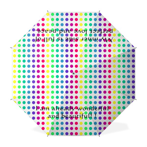 美しい素晴らしい 愛平和2 ドット柄(虹色)