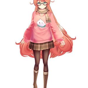 【Vroid用衣装テクスチャ】ピヨグラムセーター衣装セット