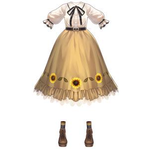 【Vroid用衣装テクスチャ】ひまわりカントリー衣装セット