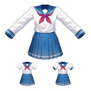 【Vroid用衣装テクスチャ】セーラー服