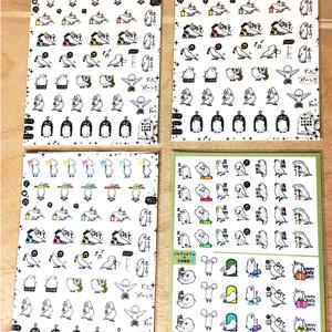 シールB3枚+ポストカードつき手帳シール1枚セットオマケつき