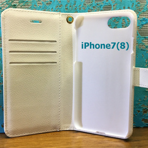iphone7(8)ろうだらけ柄手帳型スマホカバー