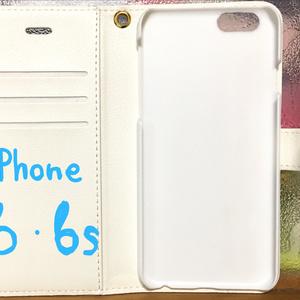 手帳型スマホカバー BIRDMIXモノクロ/カラー iPhone6/6s