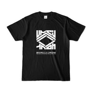 レペゼン井戸小屋ロゴTシャツ-黒地白ロゴver.