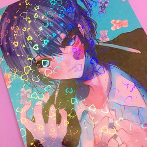 「美少年展」水色の美少年ホログラムポスター&ポストカード