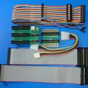 PC-8801 / PC-88VA2/3 HxC等 起動ドライブ変更 完成基板とケーブル(2ドライブ)のセット + 5 ->3.5インチ変換