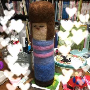 ヒューマン羊毛フェルトこけし
