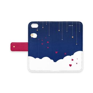 ひつじの遊覧飛行-手帳型iPhoneケース