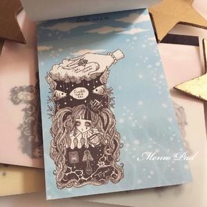 天空の紅茶店・メモ帳「Sky&Ocean Black」
