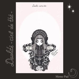 天空の紅茶店・メモ帳「Rain Rose Tea Black」