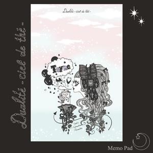 天空の紅茶店・メモ帳「Fragrance of Memory Black」