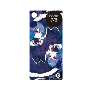 iphoneケース -真実の探求者<蒼>- ガラスタイプ