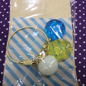 レジンドロップキーホルダー(青×黄