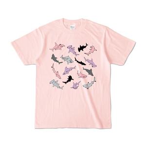 サメサメ淡色Tシャツ