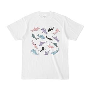 サメサメ白Tシャツ