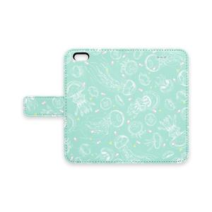 クラゲとクスリの手帳型iPhoneケース