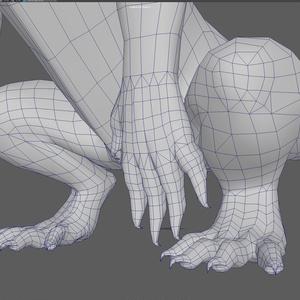 【OBJ素材データ】汎用型ドラゴン3Dモデル