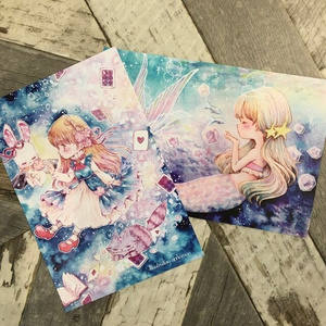 「人魚・アリス」ポストカード2枚組み