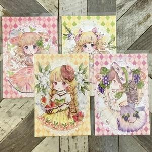 「フルーツ娘シリーズ」ポストカード4枚セット