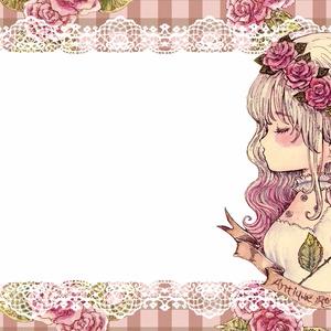 【メッセージカード】ガーリー/薔薇