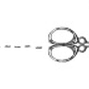 【マステ】鋏のキリトリ線マスキングテープ