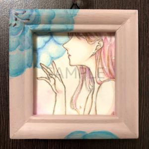 【ミニ原画】Blue Rose(シア)