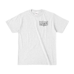 まめ公Tシャツ no.1-2 アッシュ