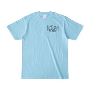 まめ公Tシャツ no.1-2 ライトブルー