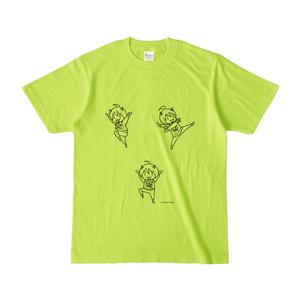 まめ公Tシャツ no.4 ライトグリーン