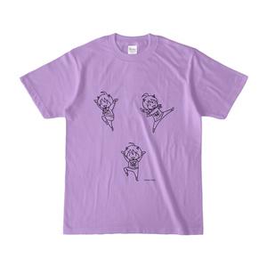 まめ公Tシャツ no.4 ライトパープル