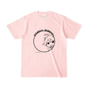 まめ公Tシャツ no.5 ライトピンク