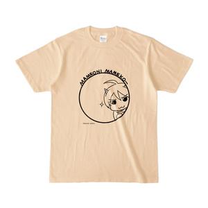 まめ公Tシャツ no.5 ナチュラル